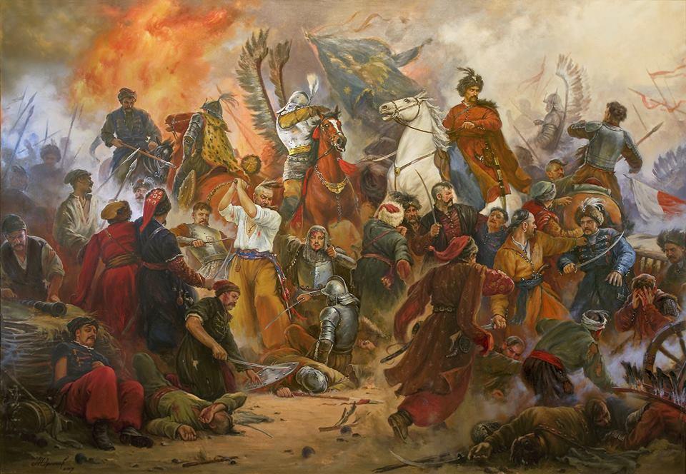 Картина відомого художника Студії українського батального мистецтва Артура Орленова з його сторінки в ФБ