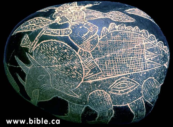 Камені Іки. Вершник на динозаврі