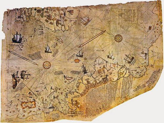 Карта Пірі Рейса