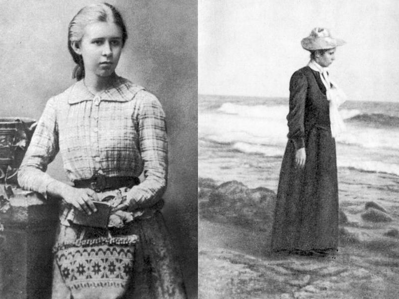 Леся Українка, фото 1888 і 1902 років