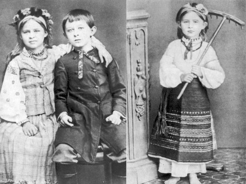 Дитячі світлині 1879 – 1880 років (маленький хлопчик – брат Михайло)