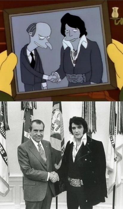 Пародія на зустріч американського президента Річарда Ніксона з Елвісом Преслі