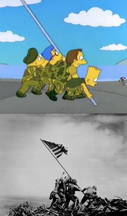 Алюзія на битву за Іводзіму: американські військові встановлюють прапор на острові в Японії