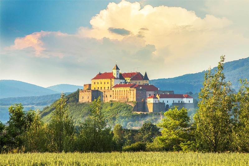 Панорама на замкову гору, Мукачево