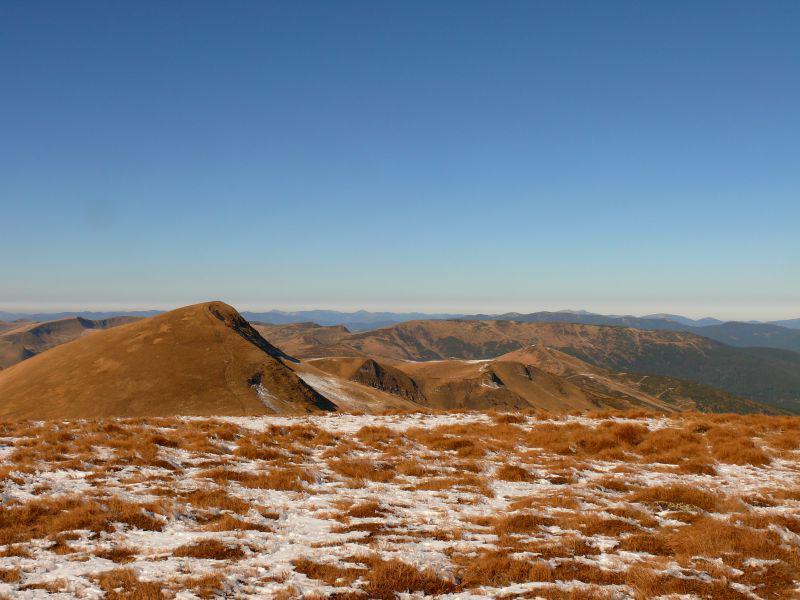 Осіння панорама карпатських вершин, Свидівець, Карпати