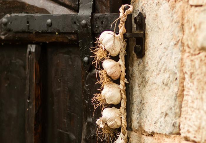Часник на підвіконнях і дверних рамах рятує від вампірів. | Фото: atlasobscura.com.