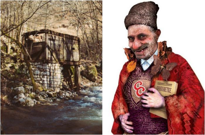 Перший європейський вампір Сава Савановіч біля своєї обителі. | Фото: iostream.info і mondo.rs.