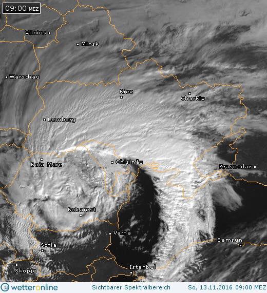 Аномальний сніговий циклон над Західною Україною