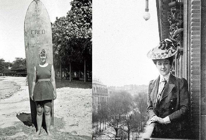Молода Агата Крісті - одна із перших англійок-серферів