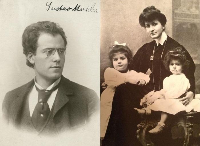 Густав Малер, його дружина Альма і дочки | Фото: venagid.ru