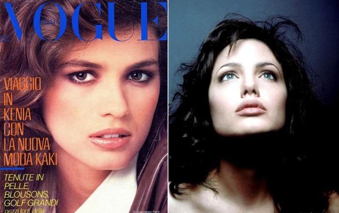 Джіа на обкладинці журналу і її двійник в кіно - Анджеліна Джолі