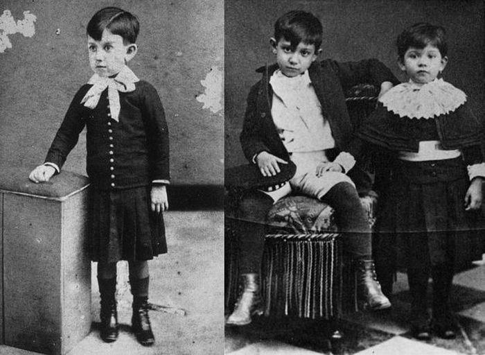 Пабло Пікассо в дитинстві | Фото: peoples.ru