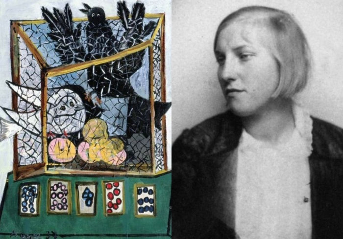 Зліва - Пікассо. Птахи в клітці, 1937. Праворуч - Марія-Тереза Вальтер | Фото: artchive.ru