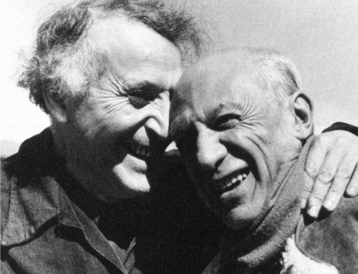 Марк Шагал і Пабло Пікассо, 1941 | Фото: artchive.ru