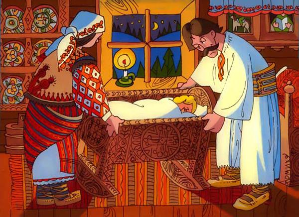 Картина «Спи моя дитинка, спи», художник Андрій Хомик