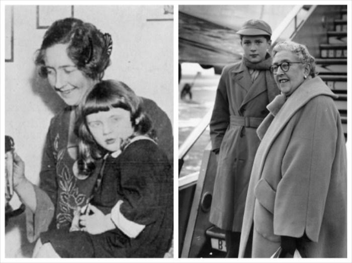 Агата Крісті з дочкою Розалінда і зі своїм онуком Метью Прічард