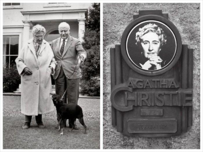 Агата Крісті зі своїм другим чоловіком Максом Маллоуеном, надгробок на могилі Агати Крісті