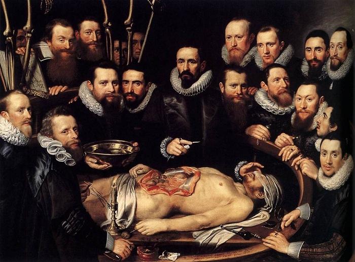 Урок анатомії. Рембрандт. | Фото: disgustingmen.com.