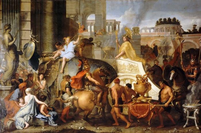 Тріумфальний в'їзд Олександра в Вавилон. Шарль Лебрен. | Фото: diletant.media.