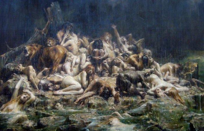 Потоп. Леон Франсуа Comerre. 1911