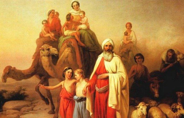 Переселення Авраама. Картина угорського художника Йожефа Молнара 1850 рік.