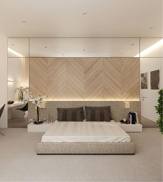 Успішне оформлення спальної кімнати з оригінальним підсвічуванням, що створить комфорт і затишок.