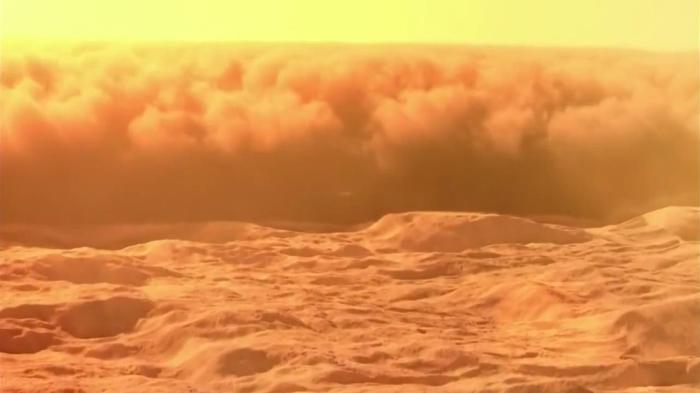 Марсіанські пилові бурі.