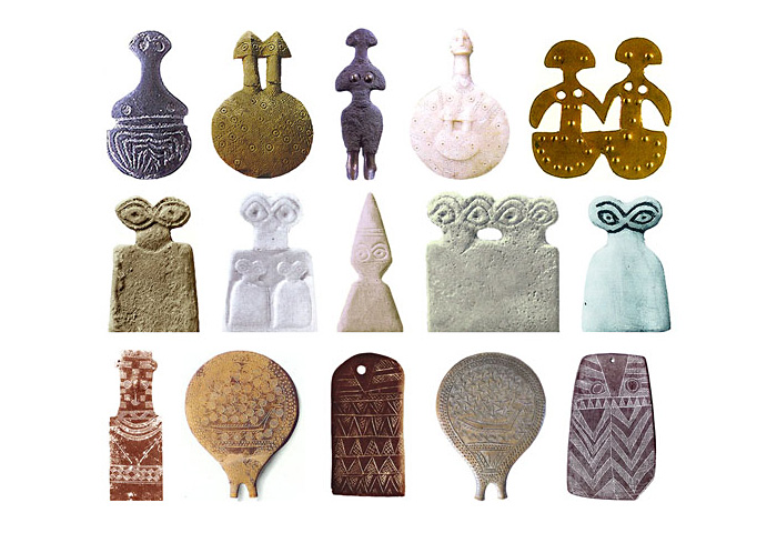 Скульптури Кікландскіх Богинь