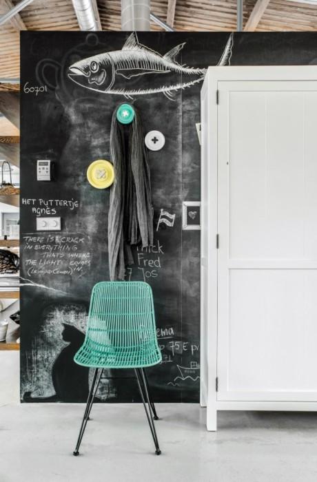 Грифельна стіна для малювання крейдою, що сподобається не тільки дітям, а й дорослим.
