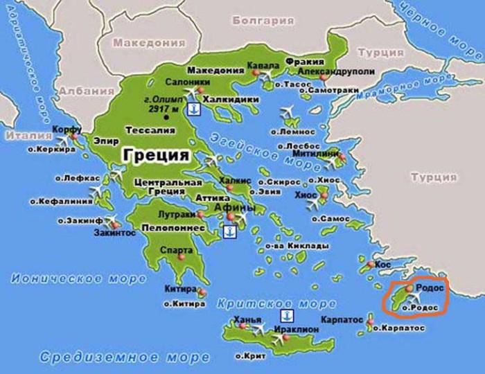 Острів Родос - місце виготовлення Антикітерський механізму.