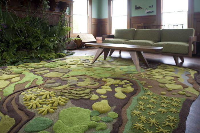 Великий килим ідеальний для вітальні.