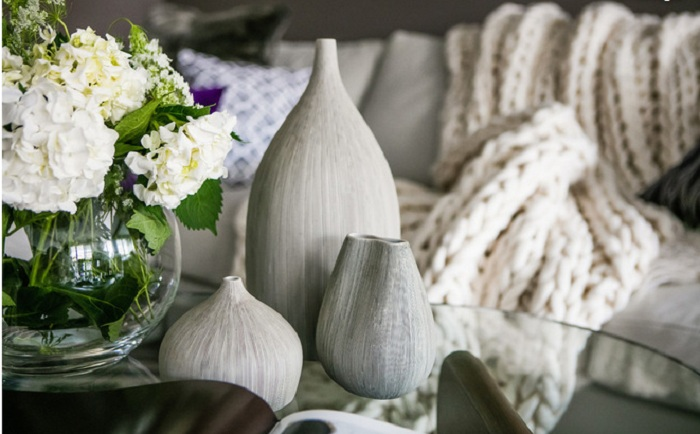 Чим різноманітніше текстури в інтер'єрі вітальні - тим краще.